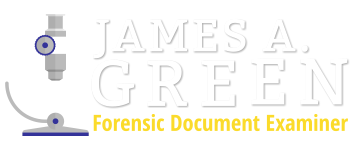 Forensic Document Examiner – James A. Green
